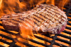 Rib Eye Steak on Grill Royalty Free Stock Photos