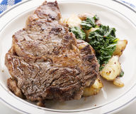 Rib Eye steak Stock Photos