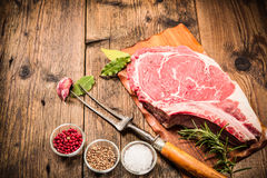 Rib eye steak Royalty Free Stock Photos