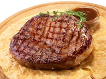 Rib-eye steak resting Royalty Free Stock Photo