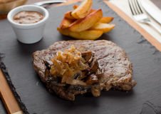 Rib-Eye Steak, shallow DOF Royalty Free Stock Images