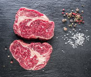 Rib Eye Steak With Spices imagens de stock royalty free