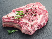 Rib Eye Steak With Spices imagem de stock royalty free