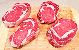 Rib Eye steaks Royalty Free Stock Photos