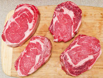 Rib Eye steaks Royalty Free Stock Images