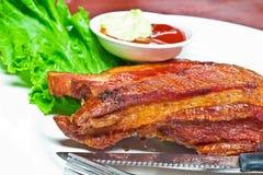 Rib ham steak Royalty Free Stock Image