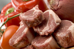 Rib lamb chops Stock Photo