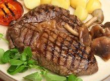Rib-oog Lapje vleesdiner Stock Foto