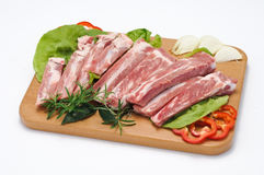 Rib of pork Stock Image