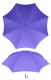 8 rib purple umbrella isolated Royalty Free Stock Photography