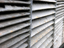 Rib sections. Three rusty air conditioning radiator rib sections Stock Photos