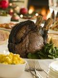 Rib van het Britse Buffet van de Tweede kerstdag van het Rundvlees Stock Afbeeldingen