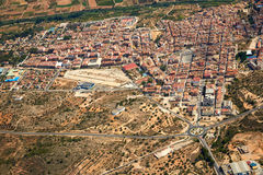 Riba-Roja Ribarroja del Turia village aerial Royalty Free Stock Image
