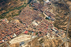 Riba-Roja Ribarroja del Turia village aerial Royalty Free Stock Images