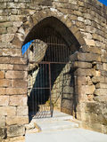 Ribadavia castle door Royalty Free Stock Photo