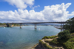 Ribadeo bridge. Royalty Free Stock Images