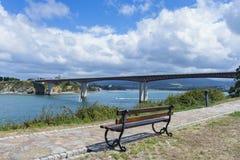 Ribadeo bridge. Royalty Free Stock Photo