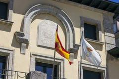 Ribadeo, Galizien, Spanien stockbild