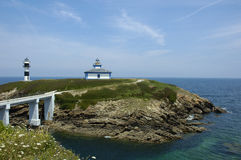 Ribadeo lighthouse Royalty Free Stock Image