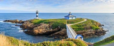 Ribadeo lighthouse, Spain. Lighthouse Of Ribadeo, Lugo, Galicia, Spain Royalty Free Stock Photo