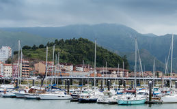 Ribadesella Harbour Royalty Free Stock Photos