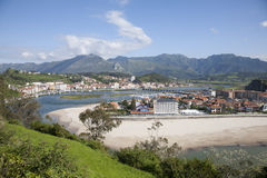 Ribadesella from mountain Stock Image
