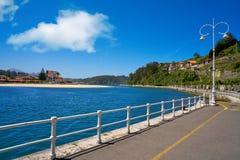 Ribadesella rzeczny Sella w Asturias Hiszpania obraz stock