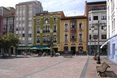 Ribadesella town square Stock Photo