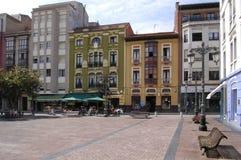 Ribadesella town square Stock Photo