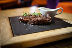 Ribai Prime Cube Roll. Steak from the rib side of the bull royalty free stock images
