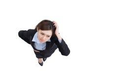 Ribaltamento di sguardo della donna di affari Immagini Stock