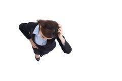 Ribaltamento di sguardo della donna di affari Fotografia Stock Libera da Diritti