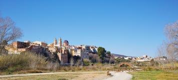 Ribarroja in Valencia parc de Turia skyline Royalty Free Stock Photo