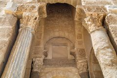 Ribat fästning inom medeltida medina av Sousse royaltyfri foto