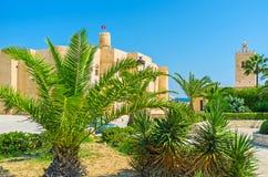 Ribat Monastir через ладони Стоковая Фотография RF