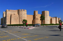 Ribat of Monastir, Tunisia. Africa. The Ribat was one of the filming locations for Jesus of Nazareth. Built directly on the shore, surrounded by palm trees and Royalty Free Stock Images