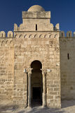 Ribat at Sousse. Tunisia. Sousse - medina (old town). Ribat - entrance gate (portal) is flanked by two columns which have different capitals (taken from Roman Stock Photography
