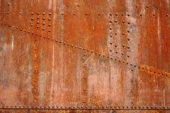 Ribattini arrugginiti dell'acciaio Fotografie Stock Libere da Diritti