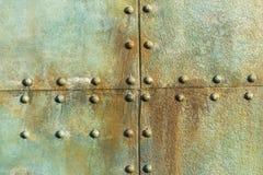 Ribattini del metallo della nave Fotografia Stock Libera da Diritti
