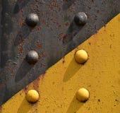 Ribattini dell'acciaio dal ponte ferroviario Fotografie Stock Libere da Diritti