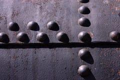 Ribattini in ferro. Immagini Stock