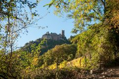 Ribauville中世纪城堡 库存图片
