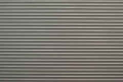 Ribbed aluminium with strip pattern stock photography