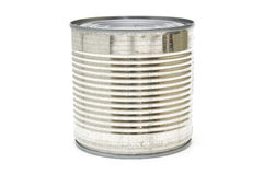 Ribbed aluminum can Royalty Free Stock Photography