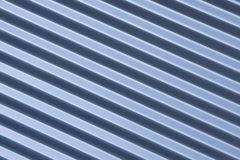 Ribbed blue metal background Royalty Free Stock Photos