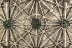 Ribbed ceiling of Jeronimos Monastery Church of Santa Maria in Lisbon