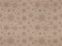 Ribbed kraft textured seamless pattern with christmas snowflakes Stock Photo