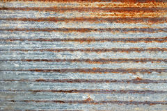 Ribbed metal plate with shelled paint Stock Images