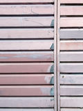 Ribbed metal  surface painted with pink paint Stock Photo