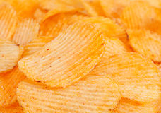 Ribbed potatoes snack Royalty Free Stock Images
